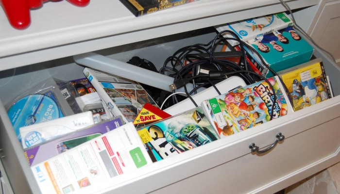 Messy DVD Drawer No More