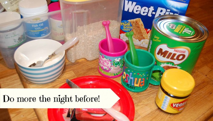 HOW TO GET ORGANISED FOR SCHOOL BY DOING MORE THE NIGHT BEFORE