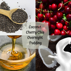 OVERNIGHT CHERRY & COCONUT CHIA PUDDING